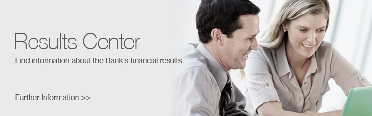 Results Center: Find information about the Bank's financial results